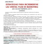 CURSO ESTRATEGIAS PARA INCREMENTAR LAS VENTAS: PLAN DE MARKETING