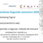 FORMACIONES SEGUNDO SEMESTRE 2020: CÁMARA COMERCIO CORUÑA ARXON ESTRATEGIA