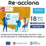 IGAPE Re-Acciona y Responde: ayuda para la viabilidad de tu negocio